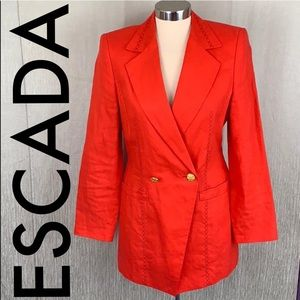 🎁 ESCADA LINEN BLAZER 💯AUTHENTIC
